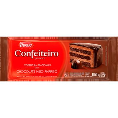 Barra de chocolate meio amargo 1,05kg Confeiteiro/Harald  UN