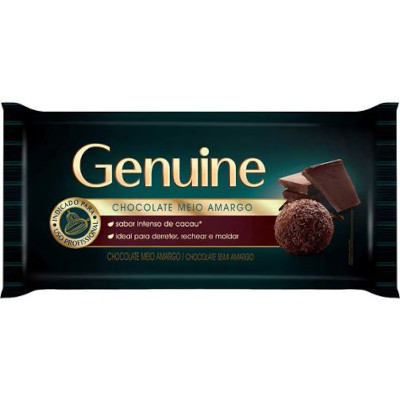 Barra de chocolate meio amargo 1kg Genuine  UN
