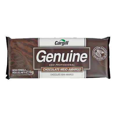 Barra de chocolate meio amargo 2,1kg Genuine  UN