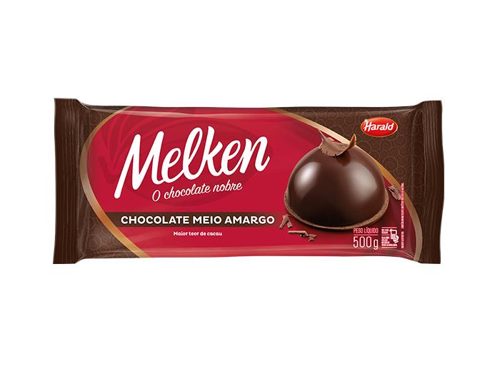 Barra de Chocolate Meio Amargo 500g Harald/Melken  UN