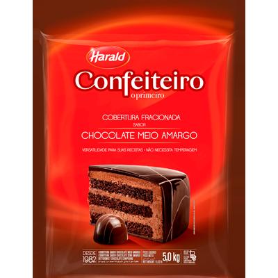 Barra de chocolate meio amargo 5kg Confeiteiro/Harald  UN