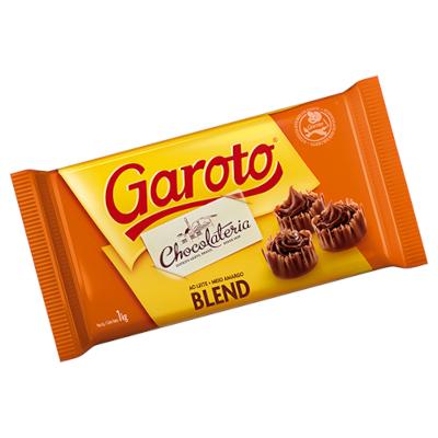 Barra de chocolate meio amargo blend 1kg Garoto  UN