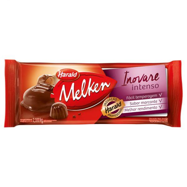 Barra de chocolate meio amargo intenso 2,1kg Inovare/Harald  UN