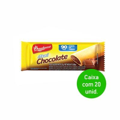 Barrinha doce com chocolate 20 unidades de 25g Bauducco caixa CX