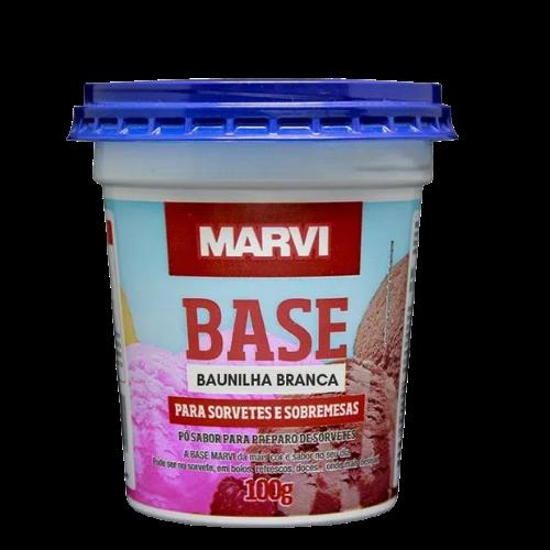 Base para sorvete sabor baunilha 100g Marvi pote UN