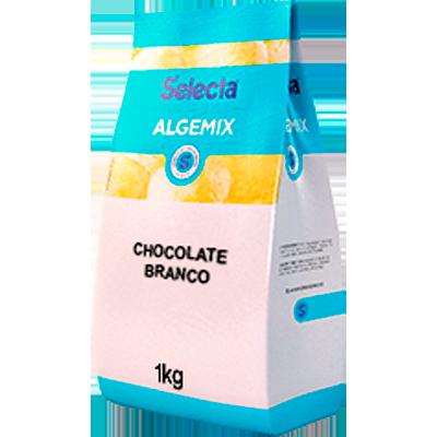Base para sorvete sabor chocolate branco 1kg Algemix pacote UN