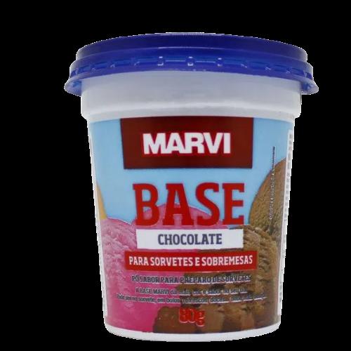 Saborizante para Sorvete sabor Chocolate 80g Marvi pote UN