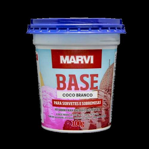 Saborizante para Sorvete sabor Coco Branco 100g Marvi pote UN