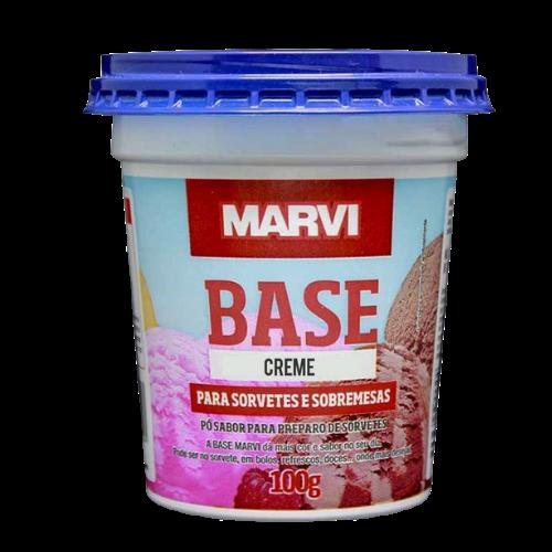 Base para sorvete sabor creme 100g Marvi pote UN