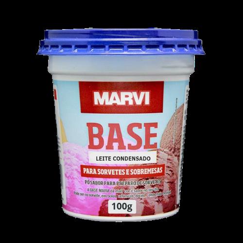 Base para sorvete sabor leite condensado 100g Marvi pote UN