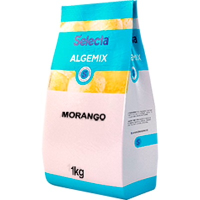 Saborizante para Sorvete sabor Morango 1kg Algemix pacote UN