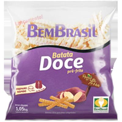 Batata Doce congelada 1,05kg Bem Brasil pacote PCT