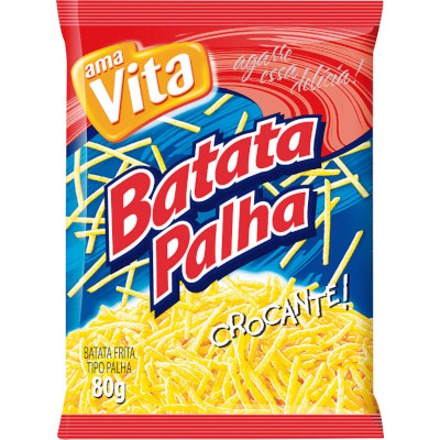 Batata Palha  80g Amavita pacote PCT