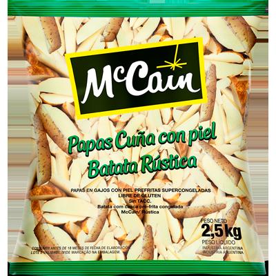 Batata Palito Rústica congelada 2,5kg McCain pacote PCT