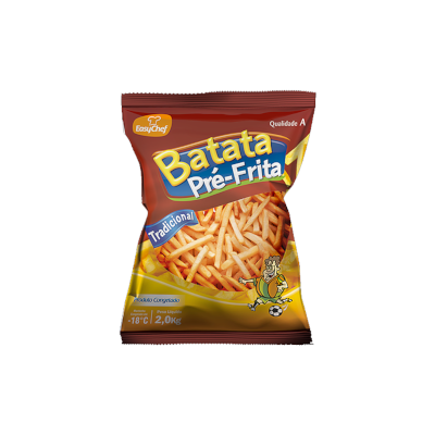 Batata Palito tradicional 10x10mm congelada 2kg EasyChef pacote PCT