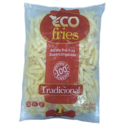 Batata Palito tradicional 10x10mm congelada 2kg Ecofries pacote PCT