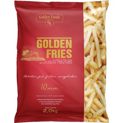 Batata Palito tradicional 10x10mm congelada 2kg Golden Fries/Red pacote PCT