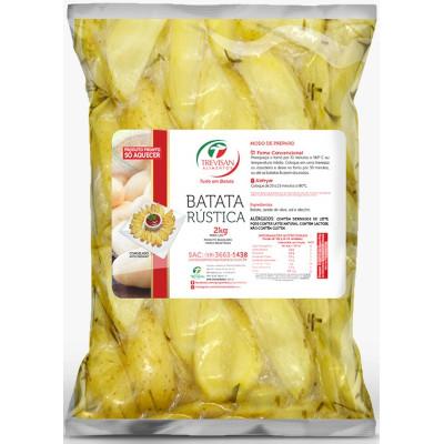 Batata Rústica congelada 2kg Trevisan pacote PCT