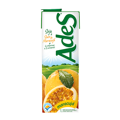 Bebida a base de soja sabor maracujá 1Litro Ades Tetra Pak UN