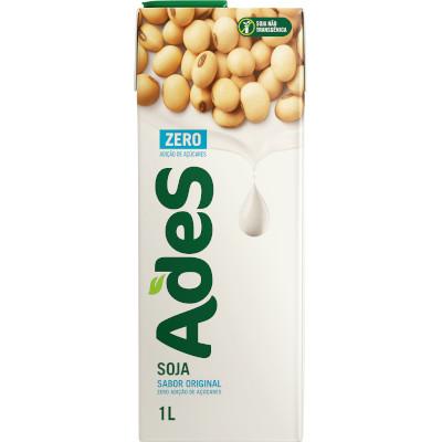 Bebida a base de soja sabor original Zero 1Litro Ades Tetra Pak UN
