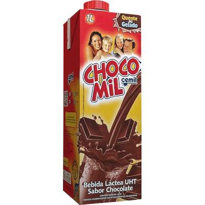 Bebida Láctea Chocolate 1Litro Cemil/Chocomil Tetra Pak UN