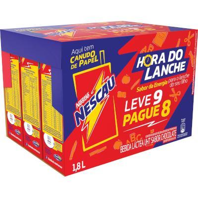 Bebida láctea  Leve 9 Pague 8 unidades de 200ml Nescau/Prontinho  PCT