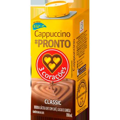 Bebida láctea sabor café, chocolate e canela 190ml 3 Corações Classic  UN