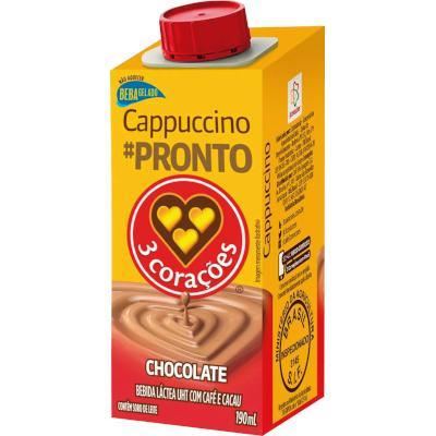 Bebida láctea sabor cappucino 190ml 3 Corações  UN