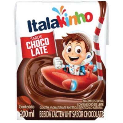Bebida Láctea sabor Chocolate 200ml Italac tetra pak UN