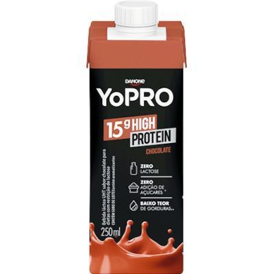 Bebida Láctea sabor Chocolate 250ml YoPró/15g High Protein  UN