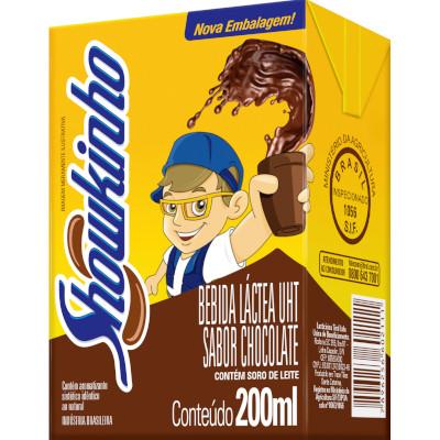 Bebida láctea sabor Chocolate Showkinho 200ml Tirol Tetra Pak UN