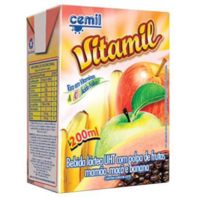 Bebida láctea  200ml Cemil Vitamil Tetra Pak UN