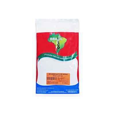 Bicarbonato de sódio  1kg Brasilseco pacote PCT