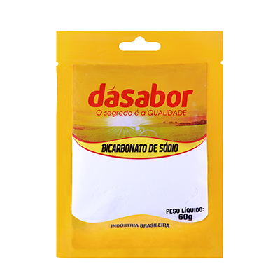 Bicarbonato de sódio  60g DáSabor pacote PCT