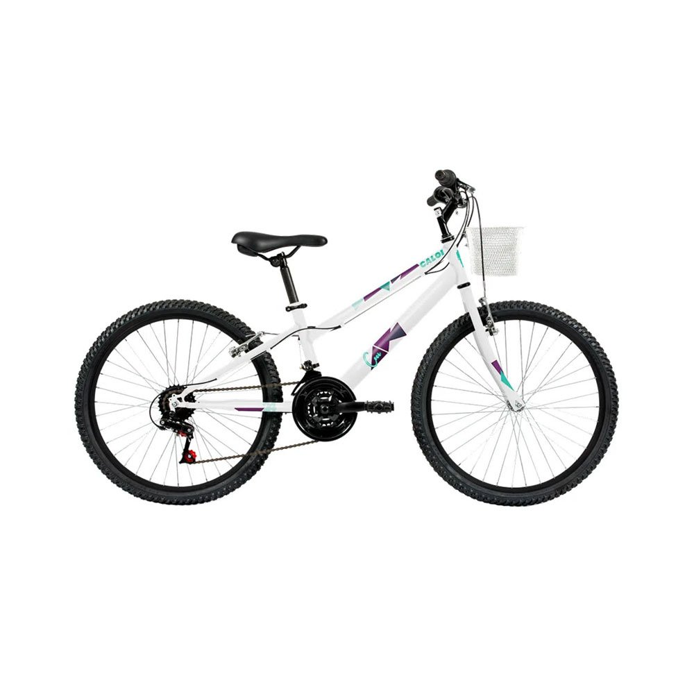 Bicicleta Aro 24 21 Marchas Ceci Lazer Branca unidade Caloi  UN