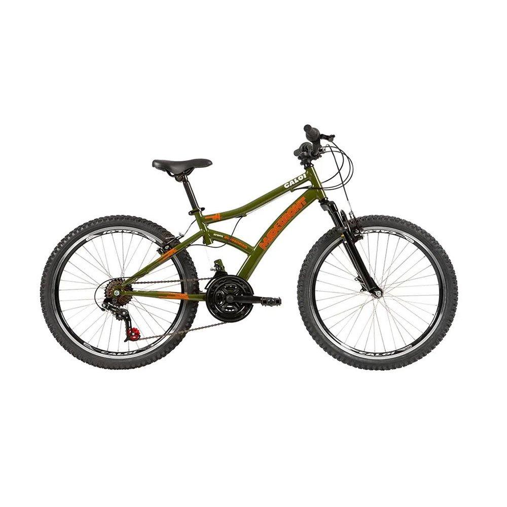 Bicicleta Aro 24 21 Marchas Max Front Lazer Verde unidade Caloi  UN
