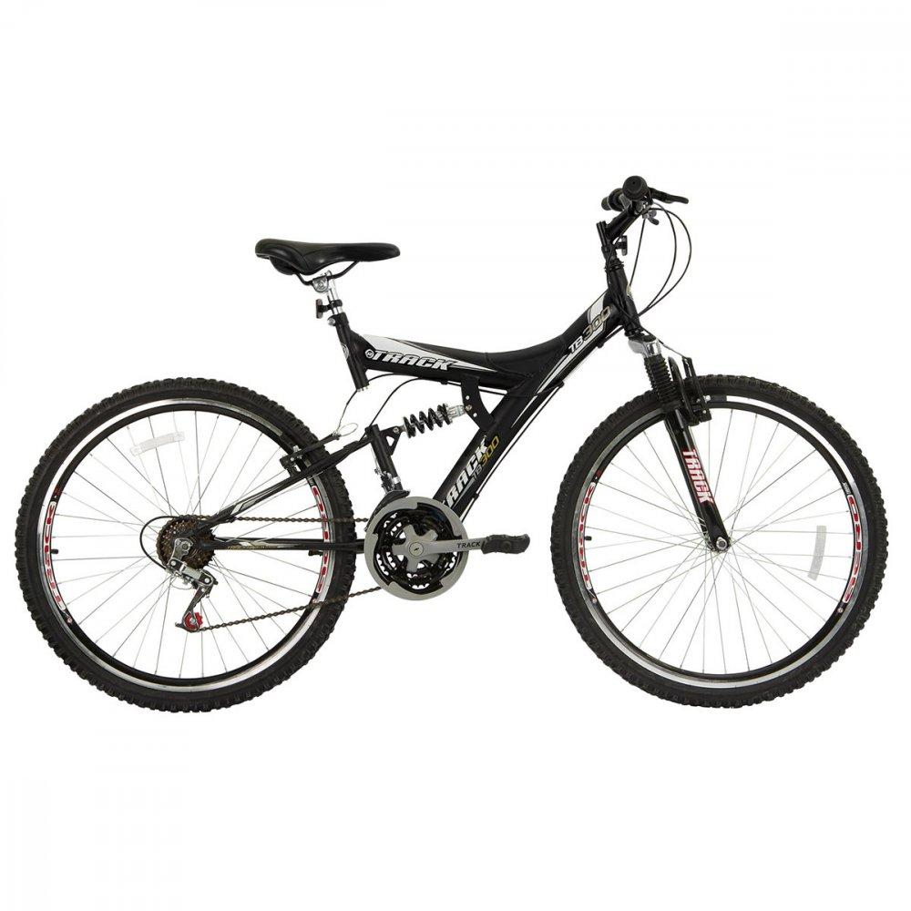 Bicicleta Aro 26 18 Marchas TB 300 Mountain Bike Preta unidade Track Bikes  UN