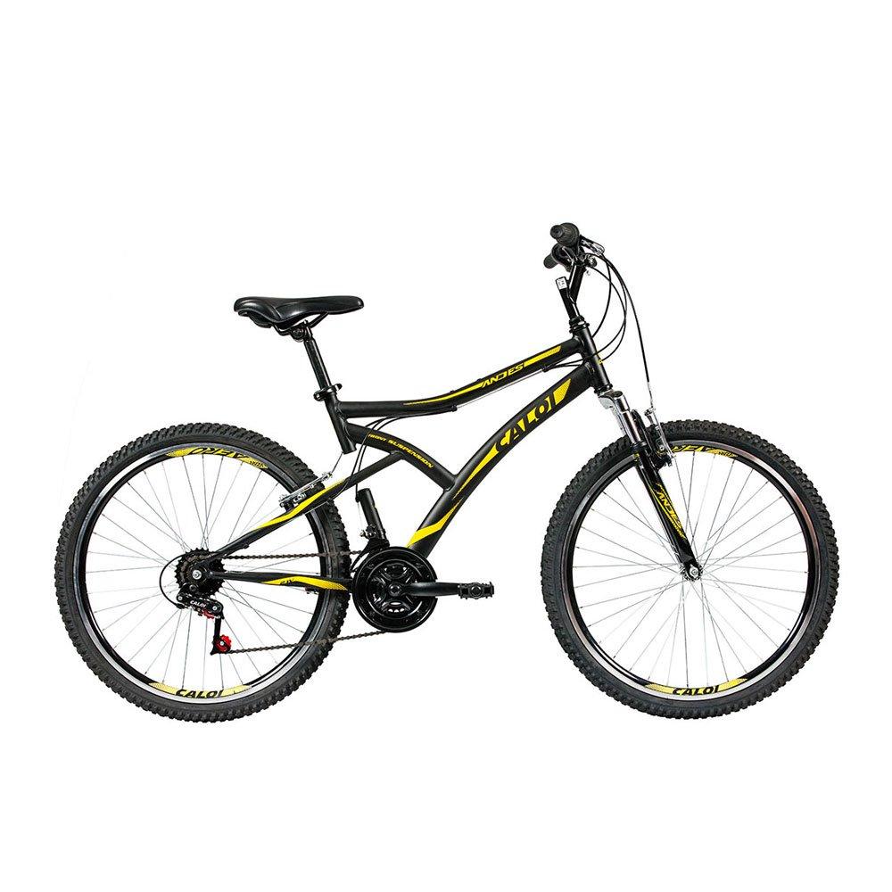Bicicleta Aro 26 21 Marchas Andes Mountain Bike Preta unidade Caloi  UN