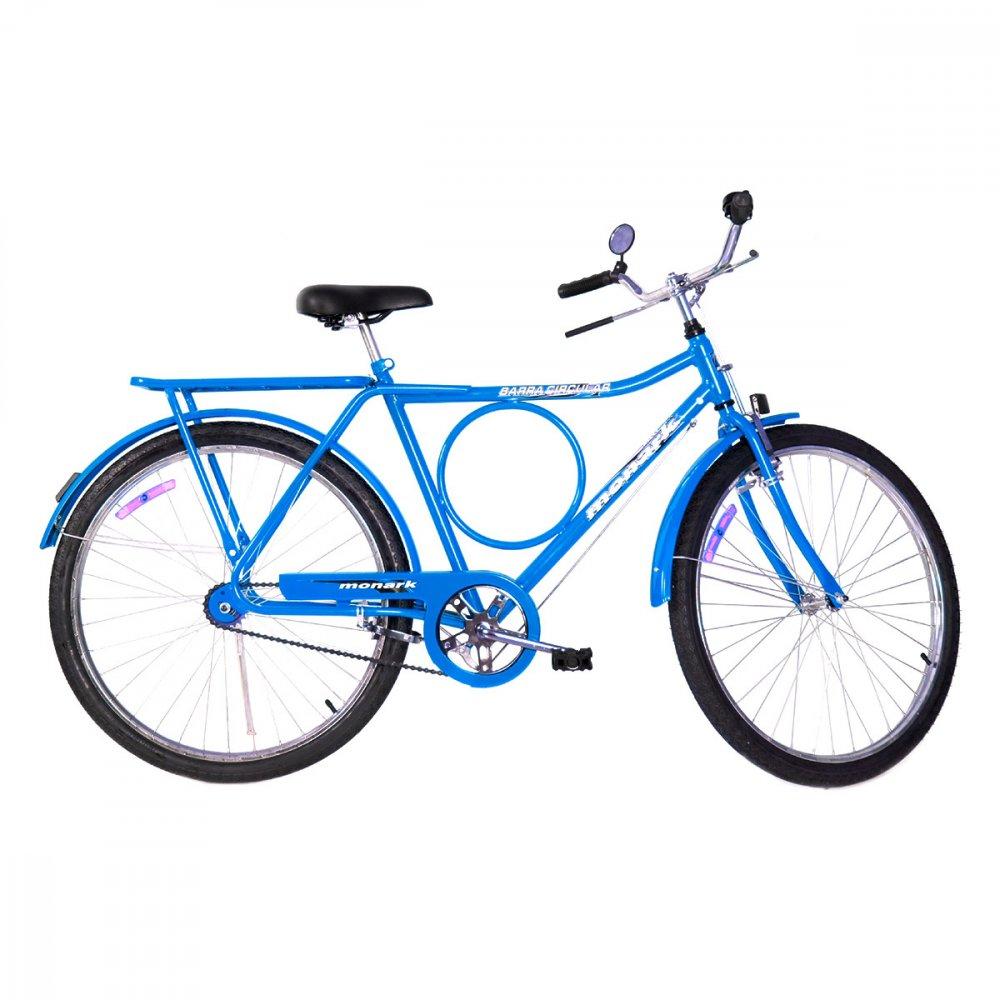 Bicicleta Aro 26 Barra Circular Fi Lazer Azul unidade Monark  UN