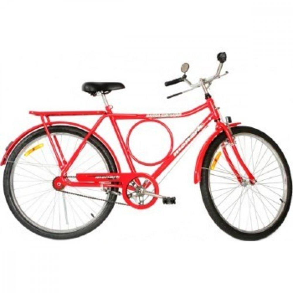 Bicicleta Aro 26 Barra Circular Fi Lazer Vermelha unidade Monark  UN