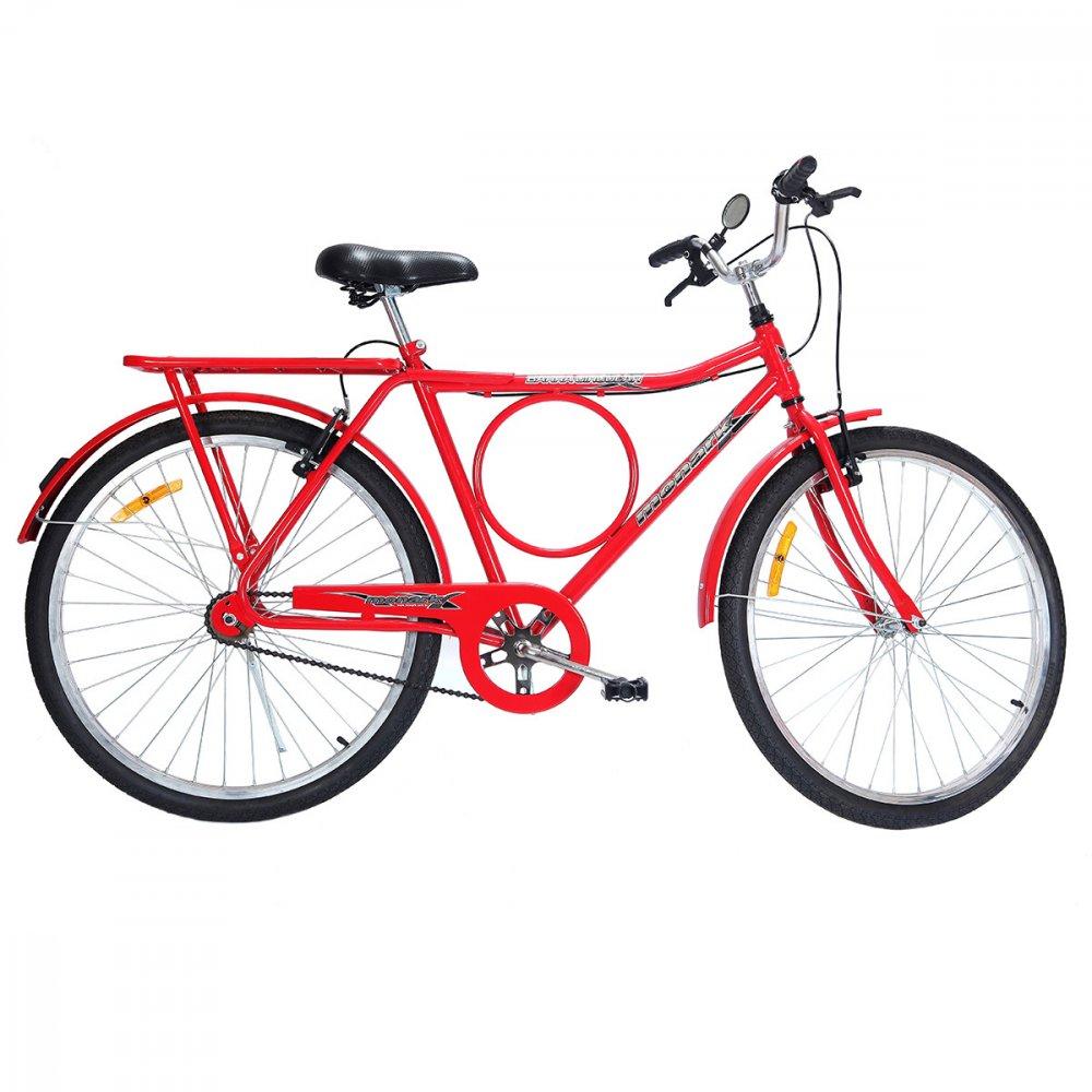 Bicicleta Aro 26 Barra Circular VB Lazer Vermelha unidade Monark  UN