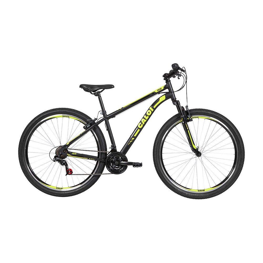Bicicleta Aro 29 21 Marchas Velox V-Brake Mountain Bike Preta unidade Caloi  UN