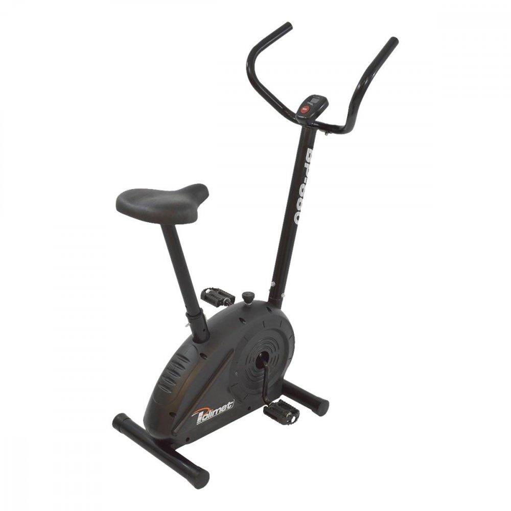 Bicicleta Ergométrica Mecânica Vertical BP-880 Preta unidade Polimet  UN