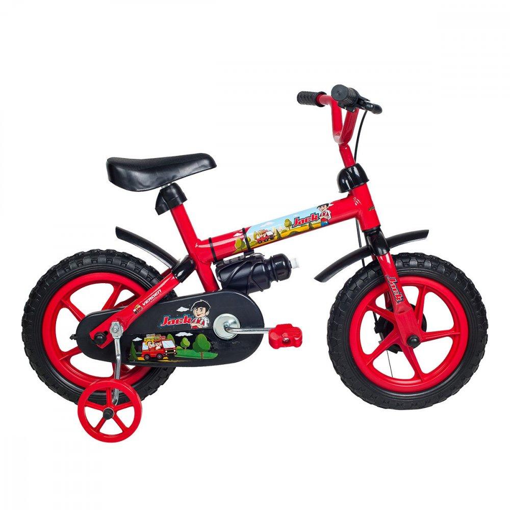 Bicicleta Infantil Aro 12 10444 Vermelha e Preta unidade Verden  UN