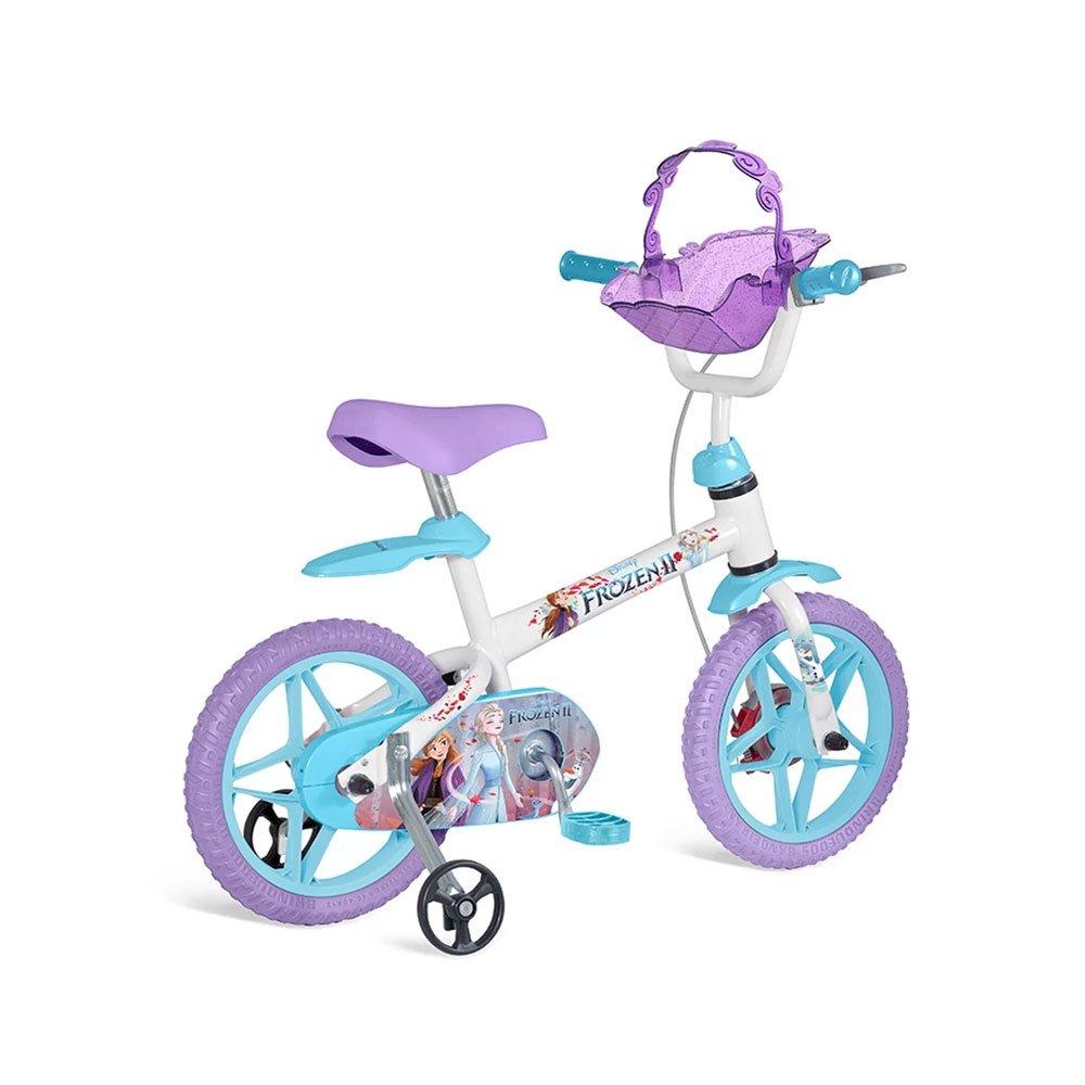 Bicicleta Infantil Aro 12 Frozen II 3097 Branca unidade Bandeirante  UN