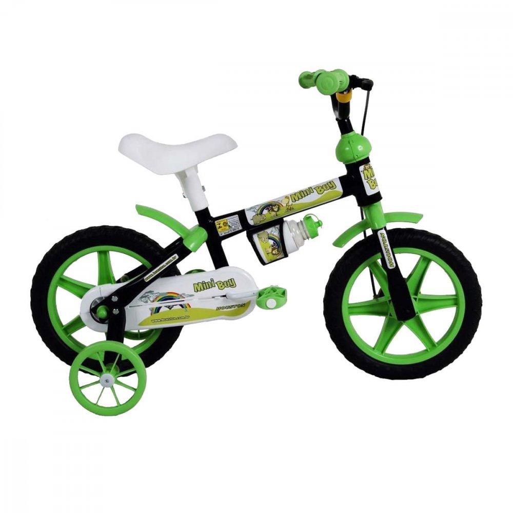 Bicicleta Infantil Aro 12 MB12J Boy Preta unidade Houston  UN