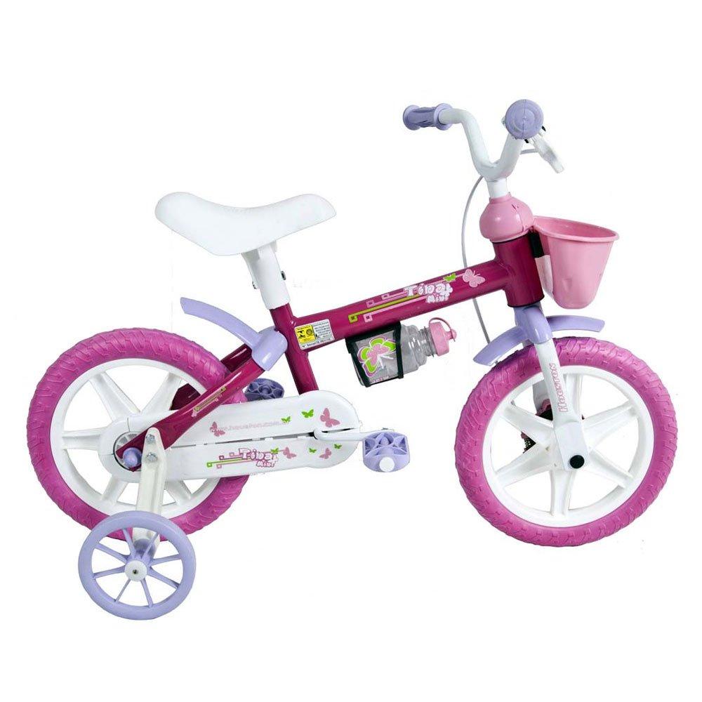 Bicicleta Infantil Aro 12 TM12J Rosa unidade Houston  UN