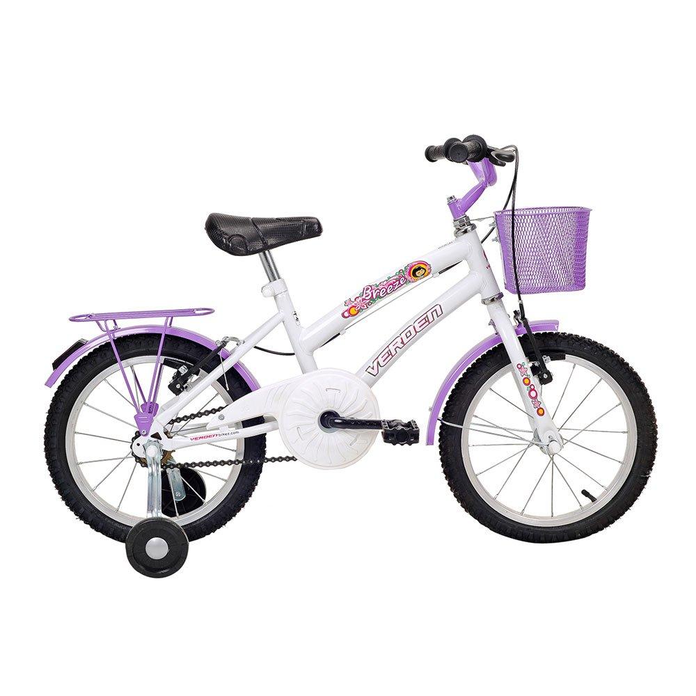 Bicicleta Infantil Aro 16 Breeze Branca unidade Verden  UN