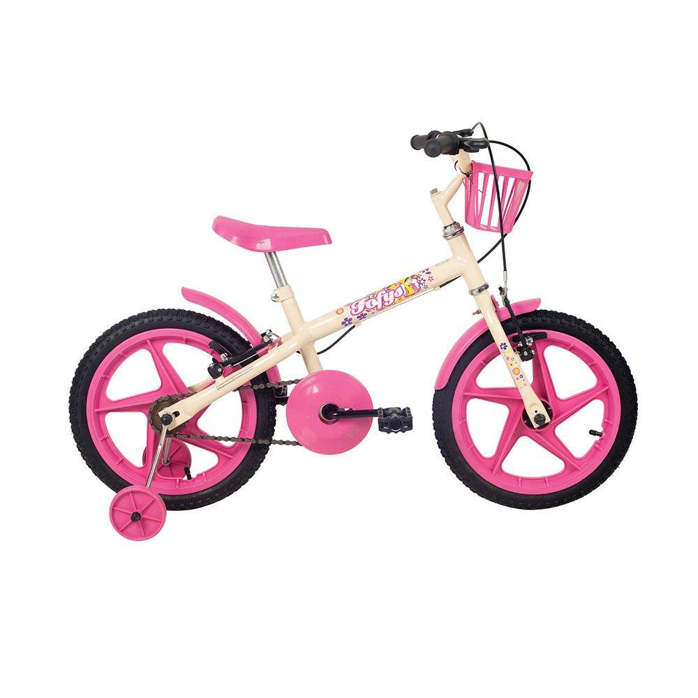 Bicicleta Infantil Aro 16 Fofys Bege e Rosa unidade Verden  UN