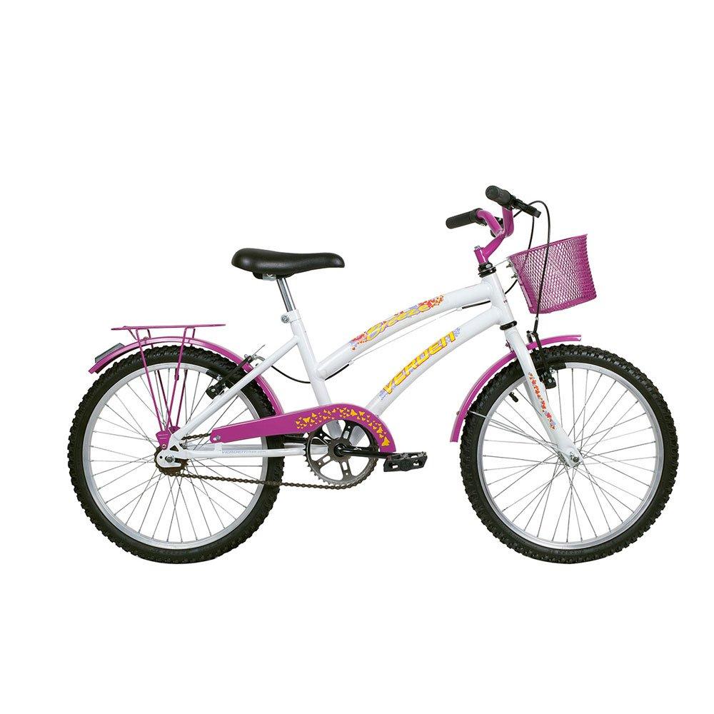 Bicicleta Infantil Aro 20 Breeze Branca e Rosa unidade Verden  UN